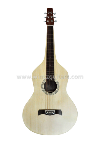 All Maple Plywood Acoustic Lap Steel Weissenborn Guitarra (AW400)